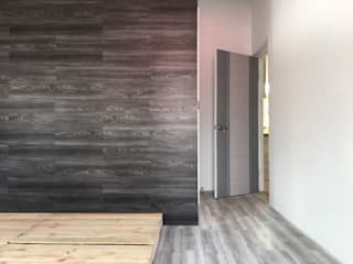 美式工業風輕裝潢:  臥室 by 登品空間規劃工程有限公司