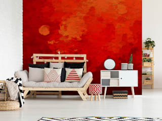 The Depth of Red Modern living room by Pixers Modern