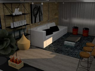 Apartamento Estilo Industrial:  industrial por STUDIO SPECIALE - ARQUITETURA & INTERIORES,Industrial