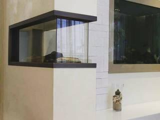 Газовый камин в гостиной: Гостиная в . Автор – Elena Gorina&Ekaterina Serebriakova