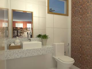 Projeto Arquitetônico: Banheiros  por Maap Engenharia,Moderno