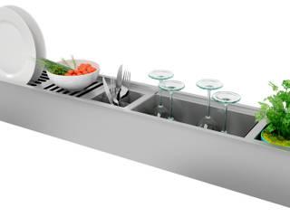 Canal Organizador Úmido Debacco 1050mm: Espaços comerciais  por Industria de Pias GhelPlus - marca DEBACCO