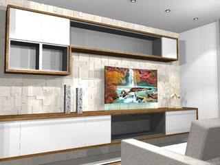 Apartamento residencial Marajoara - SP: Salas de estar  por tsmarquiteto,Moderno