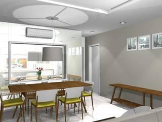 Apartamento residencial Marajoara - SP: Salas de jantar  por tsmarquiteto,Moderno