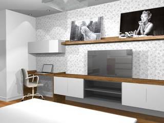 Apartamento residencial Marajoara - SP: Quartos  por tsmarquiteto,Moderno