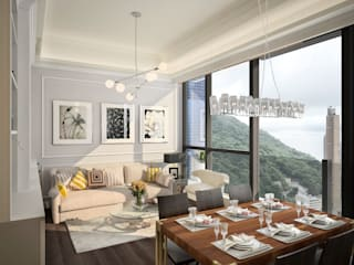 The Hudson | Kennedy Town | Hong Kong Classic style living room by Nelson W Design Classic