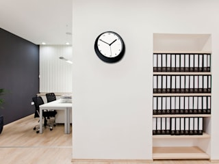 Office Wall Styling: modern  by Just For Clocks,Modern