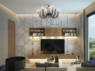 Tepeli İç Mimarlık – Luxere Örnek Daire Çalışması:  tarz Oturma Odası