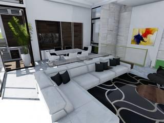 Pent House Virginia Loft, Maracaibo. Estado Zulia: Salas / recibidores de estilo  por Arquitectura Creativa