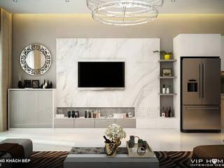 Thiết kế nội thất Villa MELOSA GARDEN:  Phòng khách by Công ty TNHH Không Gian Mo