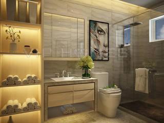 Phòng tắm phong cách châu Á bởi homify Châu Á