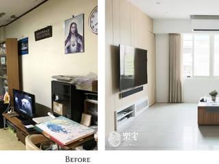 樂宅設計|內湖 金湖路公寓| 30年老屋重度舊翻新:   by 樂宅設計|系統傢俱