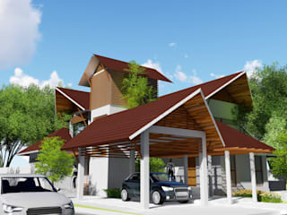ANIL KUMAR RESIDENCE by GREENcanopy innovations Tropical