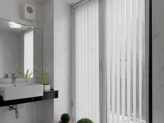 L House / Interior Design:  浴室 by 三石設計工程行