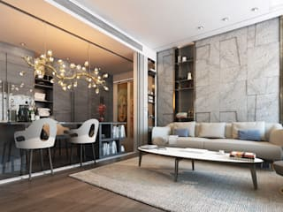 El Daou Apartment: modern Living room by GOWS architects