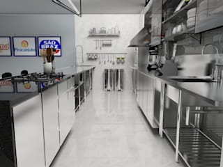 Cozinha para cursos:   por Karen Veras Arquitetura,Moderno