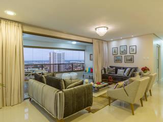 Residência Oliveira DM ARQUITETURA E ENGENHARIA Salas de estar modernas