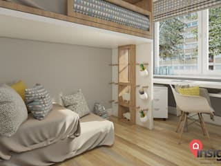 InSign Pracownia Projektowa Karolina Wójcik モダンデザインの 子供部屋