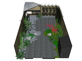 Temple Garden: asian Garden by Borrowed Space
