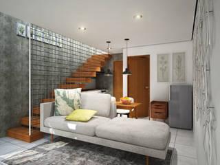 Interior - Ruang keluarga:  Ruang Keluarga by SODA Indonesia