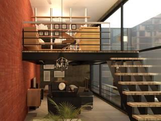Acceso: Salas de estilo moderno por Perfil Arquitectónico