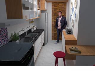 Reforma em apartamento por Rose Lima & Fritz Zehnle Arquitetura