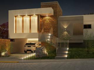 Casa ZR: Casas familiares  por Alexsandra Kronbauer Arquitetura,Moderno