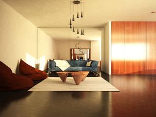 Projecto de Interiores: Salas de estar  por HAN ,Moderno