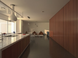 Projecto de Interiores: Corredores e halls de entrada  por HAN ,Moderno