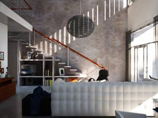 Vivenda no Minho: Salas de estar  por HAN ,Moderno