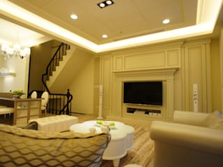 美式妍麗 棠豐室內裝修設計工程有限公司 客廳
