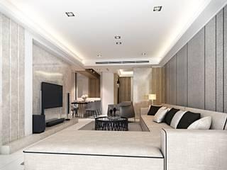 永康 大都匯 棠豐室內裝修設計工程有限公司 现代客厅設計點子、靈感 & 圖片