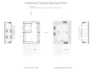 Mansard Loft Conversion by Paul D'Amico Remodels Класичний