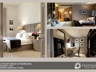 Concept Design of Bedroom:  Living room by Prestige Architects By Marco Braghiroli