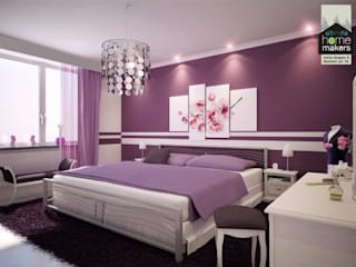 Purple Girlish Bedroom homify Modern Bedroom Purple/Violet