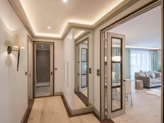 Paddington Penthouse - London Couloir, entrée, escaliers modernes par Prestige Architects By Marco Braghiroli Moderne