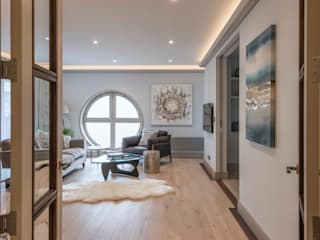 Paddington Penthouse - London Salas modernas de Prestige Architects By Marco Braghiroli Moderno