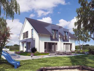 Aussenaufnahme Solution 242 V3:   von Living Fertighaus GmbH