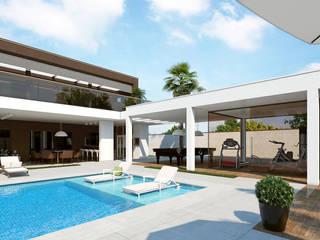 Casa RH: Casas familiares  por L F Zeferino ,Moderno
