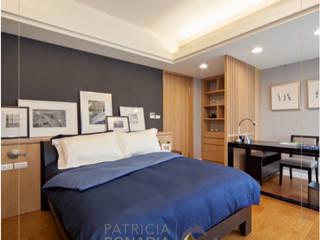 Projeto D|F Quartos modernos por Patricia Bonadia Arquitetura Interiores e Feng Shui Moderno