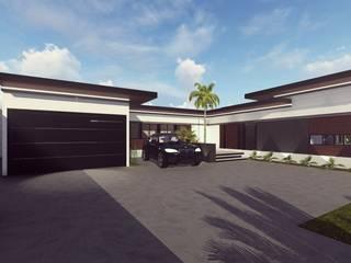 PERSPECTIVA FACHADA : Casas de estilo minimalista por BOCA ARQUITECTOS