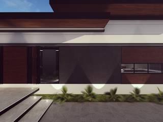 FACHADA FRONTAL: Casas de estilo minimalista por BOCA ARQUITECTOS