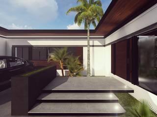 ACCESO: Casas de estilo minimalista por BOCA ARQUITECTOS