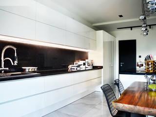 Arte FABBRO ห้องครัวตู้เก็บของและชั้นวางของ ไม้ White