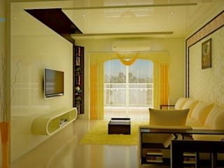 Sobha City, 3 BHK - Mr. Agrawal:  Living room by DECOR DREAMS