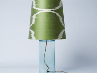 Green Sophie French Drum Lampshade: eclectic Bedroom by Nomad Design
