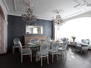 """""""Черным по белому"""" Столовая комната в эклектичном стиле от Givetto Casa Эклектичный"""