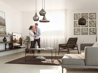 Wohnoase Teufen:  Wohnzimmer von Archilize