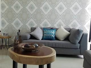 Papel Tapiz de Purple Interiores Merida Moderno