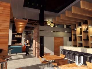 """BAR Y RESTAURANT """"U"""" ARQUITECTURA DE INTERIOR Y CONSTRUCCION JLSG Arquitecto Bares y clubs de estilo moderno"""